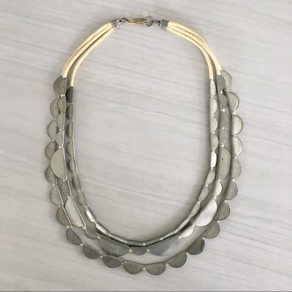Anthropologie Ilona Marbled Necklace BNWT